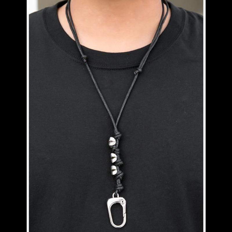 Wicked Wonders VIP Bling Necklace Man Up Lanyard Necklace Affordable Bling_Bling Fashion Paparazzi