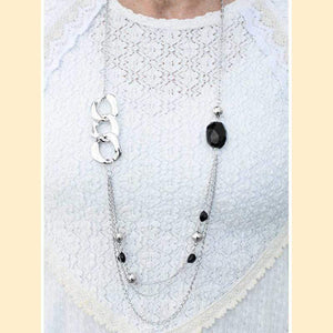 Wicked Wonders VIP Bling Necklace May I Suggest Black Necklace Affordable Bling_Bling Fashion Paparazzi