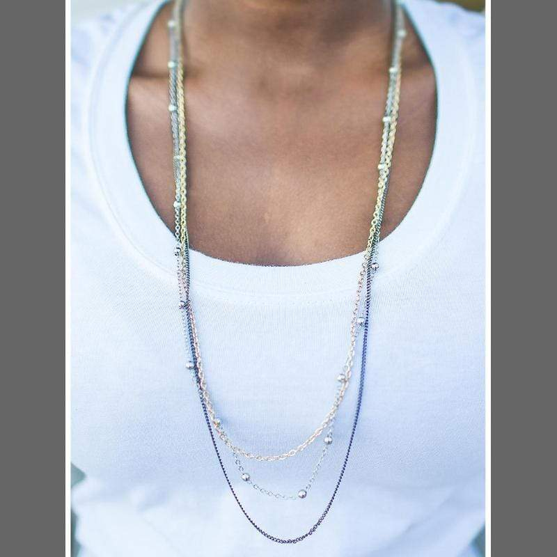 Wicked Wonders VIP Bling Necklace Metallic Crescendo Multi Gold Necklace Affordable Bling_Bling Fashion Paparazzi