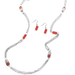 Wicked Wonders VIP Bling Necklace Midnight Mirage Red Necklace Affordable Bling_Bling Fashion Paparazzi