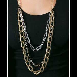 Wicked Wonders VIP Bling Necklace Mix Master Multi Gold Necklace Affordable Bling_Bling Fashion Paparazzi
