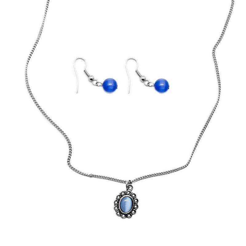 Wicked Wonders VIP Bling Necklace Modest of Them All Dainty Blue Necklace Affordable Bling_Bling Fashion Paparazzi