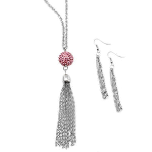 Wicked Wonders VIP Bling Necklace New Year's Eve Pink Necklace Affordable Bling_Bling Fashion Paparazzi