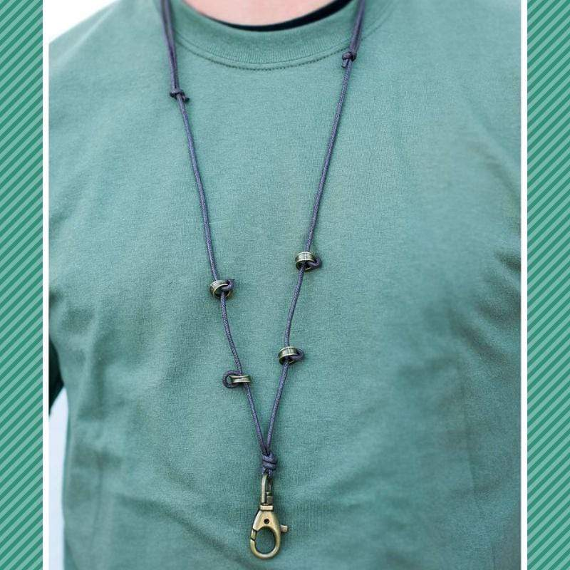 Wicked Wonders VIP Bling Necklace No More Mr. Nice Guy Brown Urban Manyard Necklace Affordable Bling_Bling Fashion Paparazzi
