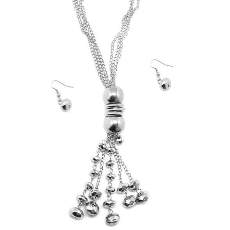Wicked Wonders VIP Bling Necklace Not a Moment Too Soon Silver Necklace Affordable Bling_Bling Fashion Paparazzi