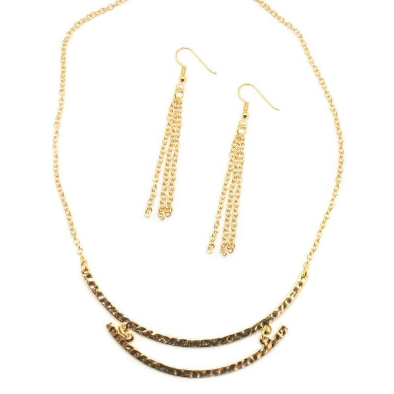 Wicked Wonders VIP Bling Necklace Nothing Can Stop Me Now Gold Necklace Affordable Bling_Bling Fashion Paparazzi