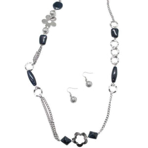 Wicked Wonders VIP Bling Necklace Ode to Joy Charcoal Blue Necklace Affordable Bling_Bling Fashion Paparazzi