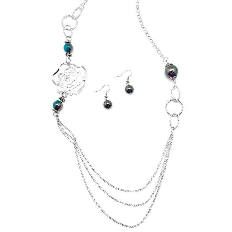 Wicked Wonders VIP Bling Necklace Oh Happy Days Blue Necklace Affordable Bling_Bling Fashion Paparazzi