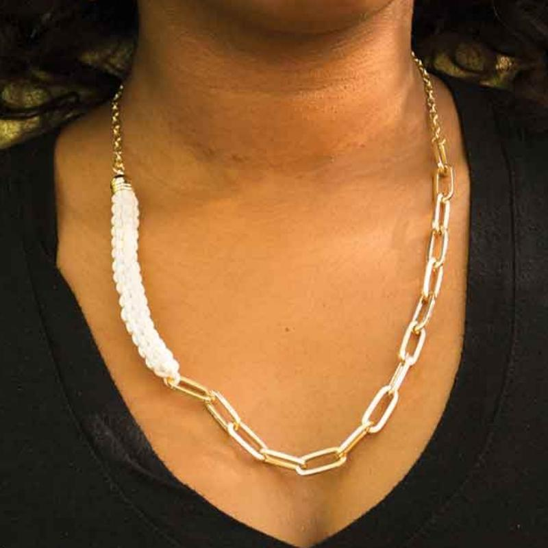 Wicked Wonders VIP Bling Necklace On the Prowl White Necklace Affordable Bling_Bling Fashion Paparazzi