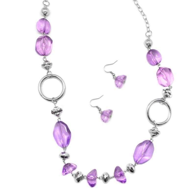 Wicked Wonders VIP Bling Necklace On the Rocks Purple Necklace Affordable Bling_Bling Fashion Paparazzi