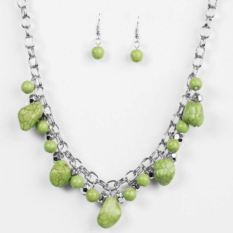 Wicked Wonders VIP Bling Necklace Paleo Princess Green Necklace Affordable Bling_Bling Fashion Paparazzi