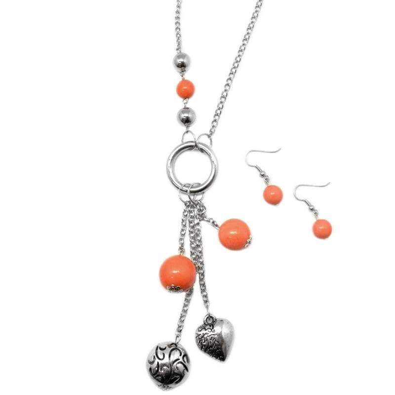 Wicked Wonders VIP Bling Necklace Part of the Movement Orange Necklace Affordable Bling_Bling Fashion Paparazzi