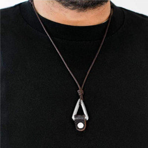 Wicked Wonders VIP Bling Necklace Right On Point Brown Urban Man Necklace Affordable Bling_Bling Fashion Paparazzi