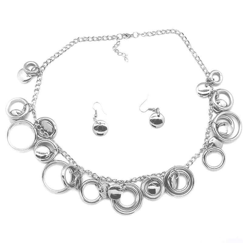 Wicked Wonders VIP Bling Necklace Ringing Off the Hook Silver Necklace Affordable Bling_Bling Fashion Paparazzi