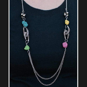 Wicked Wonders VIP Bling Necklace Rock Springs Multi-Colored Necklace Affordable Bling_Bling Fashion Paparazzi
