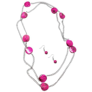 Wicked Wonders VIP Bling Necklace Rockstar Status Pink Necklace Affordable Bling_Bling Fashion Paparazzi