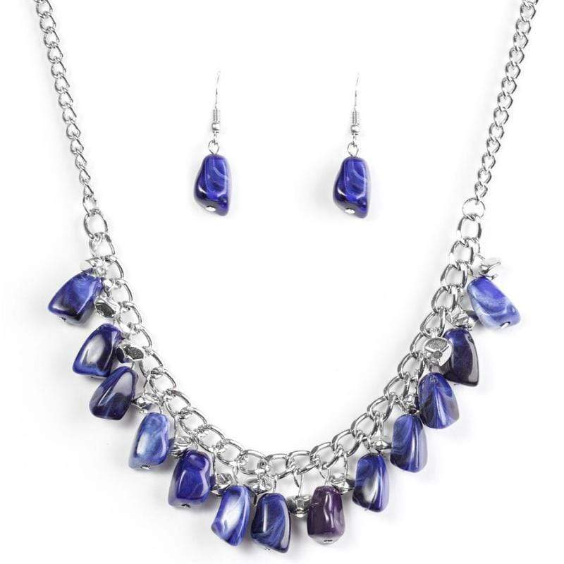 Wicked Wonders VIP Bling Necklace Rocky Shores Blue Necklace Affordable Bling_Bling Fashion Paparazzi
