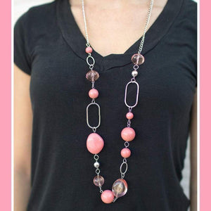 Wicked Wonders VIP Bling Necklace Rolling Stones Pink Necklace Affordable Bling_Bling Fashion Paparazzi