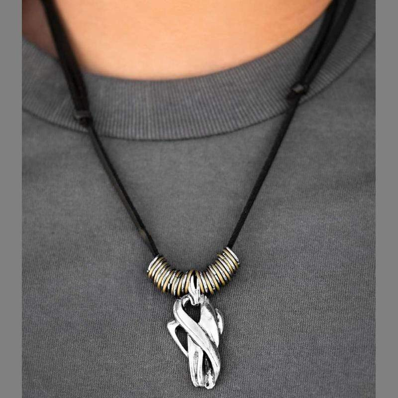 Wicked Wonders VIP Bling Necklace Roman Conquest Black Urban Man Necklace Affordable Bling_Bling Fashion Paparazzi