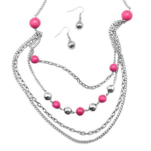 Wicked Wonders VIP Bling Necklace Roman Holiday Pink Necklace Affordable Bling_Bling Fashion Paparazzi