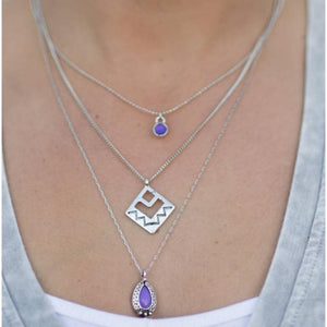 Wicked Wonders VIP Bling Necklace Run for the Hills Purple Necklace Affordable Bling_Bling Fashion Paparazzi