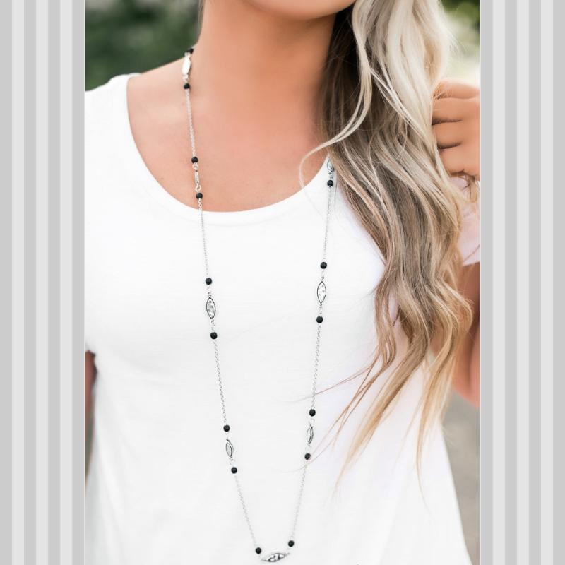 Wicked Wonders VIP Bling Necklace Rural Radiance Black Necklace Affordable Bling_Bling Fashion Paparazzi