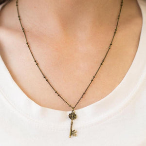 Wicked Wonders VIP Bling Necklace Secret Love Brass Necklace Affordable Bling_Bling Fashion Paparazzi
