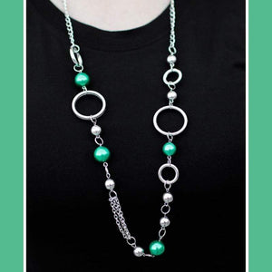 Wicked Wonders VIP Bling Necklace Serendipitous Green Necklace Affordable Bling_Bling Fashion Paparazzi