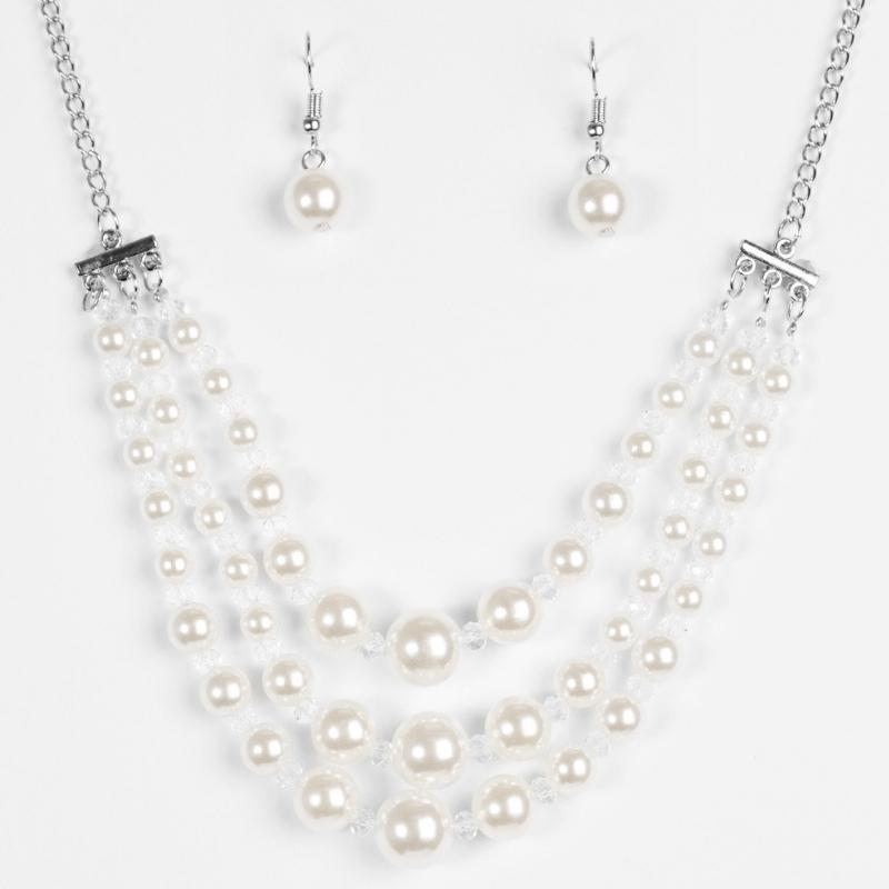 Wicked Wonders VIP Bling Necklace Spring Social White Necklace Affordable Bling_Bling Fashion Paparazzi