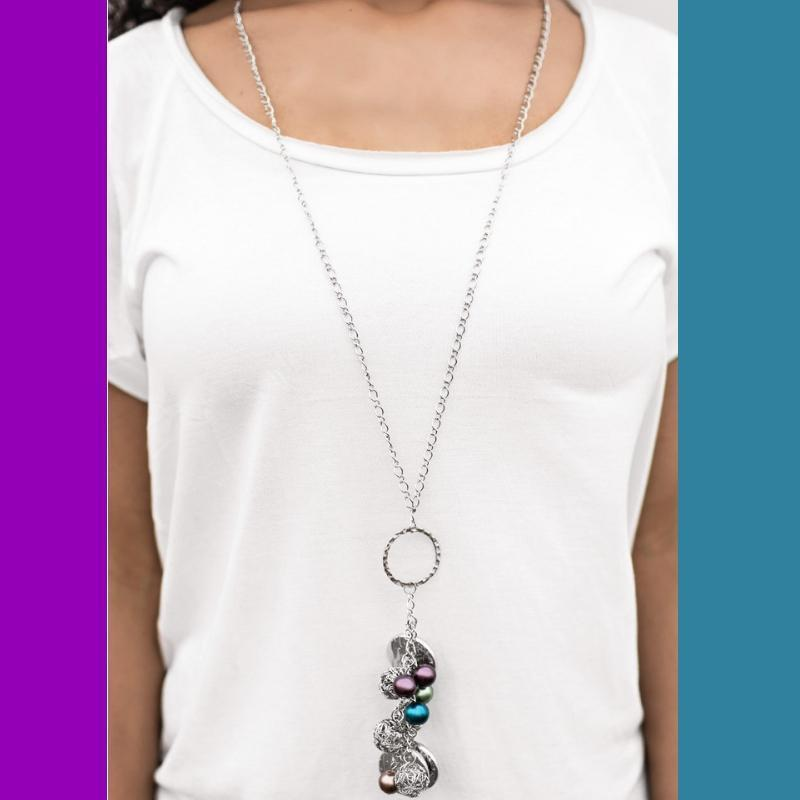 Wicked Wonders VIP Bling Necklace Sure Thing! Multi-Colored Necklace Affordable Bling_Bling Fashion Paparazzi