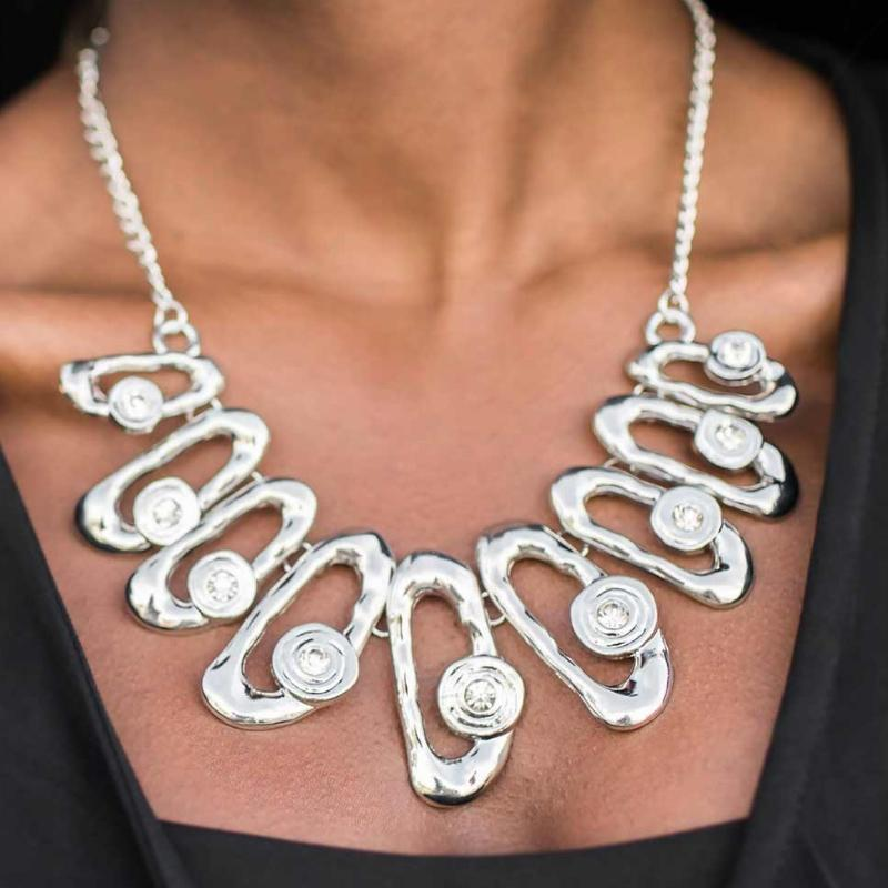 Wicked Wonders VIP Bling Necklace Take a Bow White Necklace Affordable Bling_Bling Fashion Paparazzi