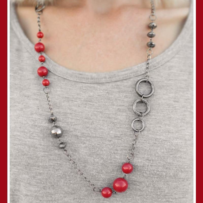 Wicked Wonders VIP Bling Necklace That Thing You Do Red Necklace Affordable Bling_Bling Fashion Paparazzi