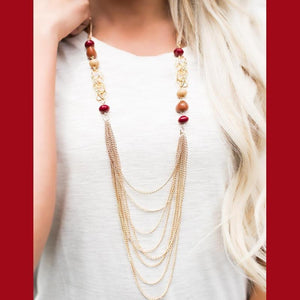 Wicked Wonders VIP Bling Necklace The 8th Wonder Gold and Multi-Color Necklace Affordable Bling_Bling Fashion Paparazzi