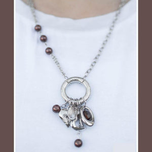 Wicked Wonders VIP Bling Necklace The Charmed Life Brown Necklace Affordable Bling_Bling Fashion Paparazzi