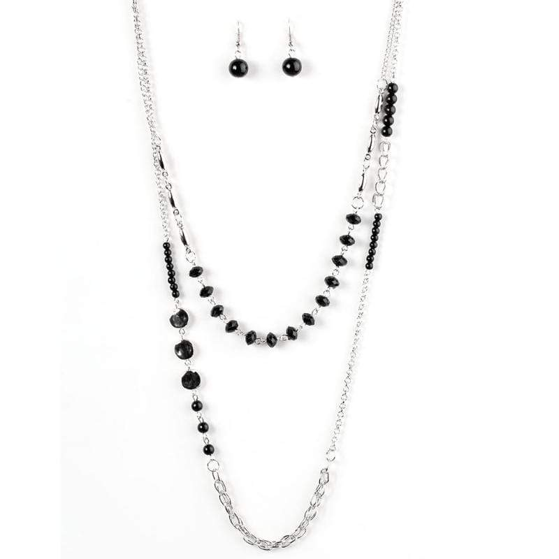 Wicked Wonders VIP Bling Necklace The Heat Is On Black Necklace Affordable Bling_Bling Fashion Paparazzi