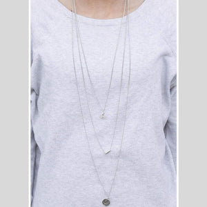 Wicked Wonders VIP Bling Necklace The Leader of the Pack Mother Silver Necklace Affordable Bling_Bling Fashion Paparazzi
