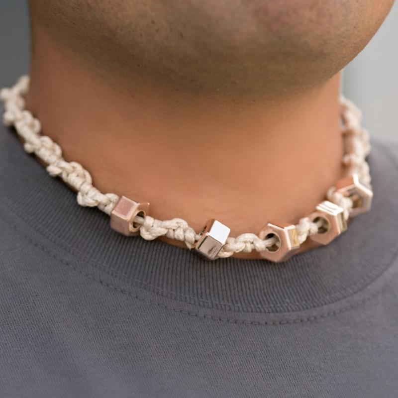 Wicked Wonders VIP Bling Necklace The Nuts and Bolts Urban Man Necklace Affordable Bling_Bling Fashion Paparazzi