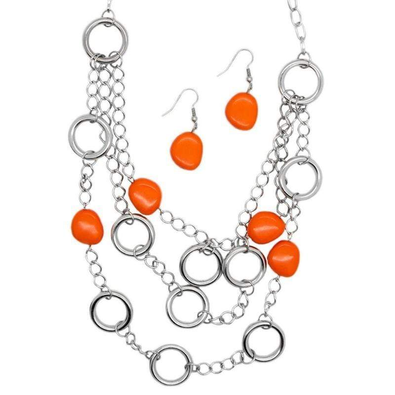 Wicked Wonders VIP Bling Necklace The Optimist Orange Necklace Affordable Bling_Bling Fashion Paparazzi