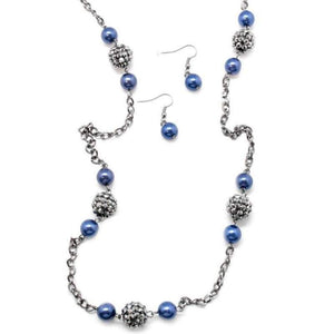 Wicked Wonders VIP Bling Necklace The Rocker Blue Necklace Affordable Bling_Bling Fashion Paparazzi