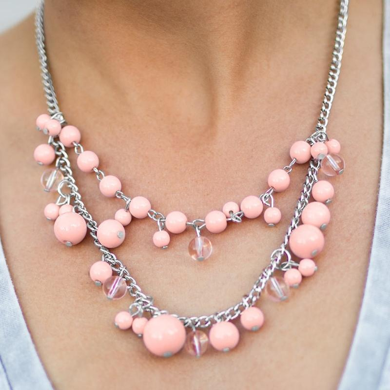 Wicked Wonders VIP Bling Necklace The Wedding Planner Pink Necklace Affordable Bling_Bling Fashion Paparazzi