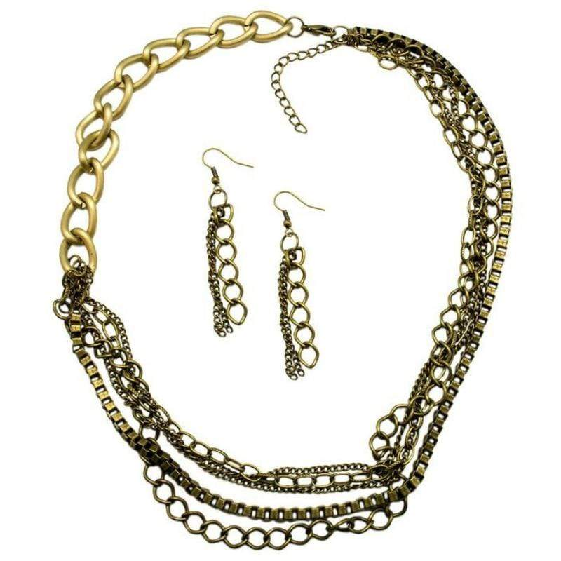 Wicked Wonders VIP Bling Necklace Thinking Outside the Box Chain Brass Necklace Affordable Bling_Bling Fashion Paparazzi