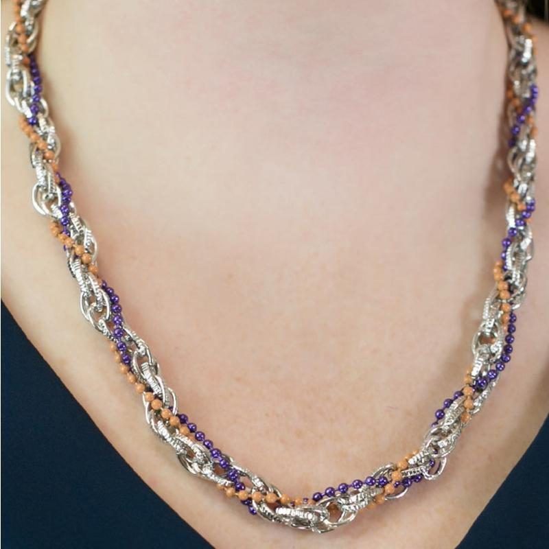 Wicked Wonders VIP Bling Necklace Time to Celebrate Brown and Purple Necklace Affordable Bling_Bling Fashion Paparazzi