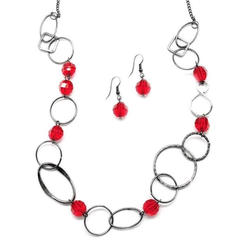 Wicked Wonders VIP Bling Necklace Today is a New Day Red Necklace Affordable Bling_Bling Fashion Paparazzi