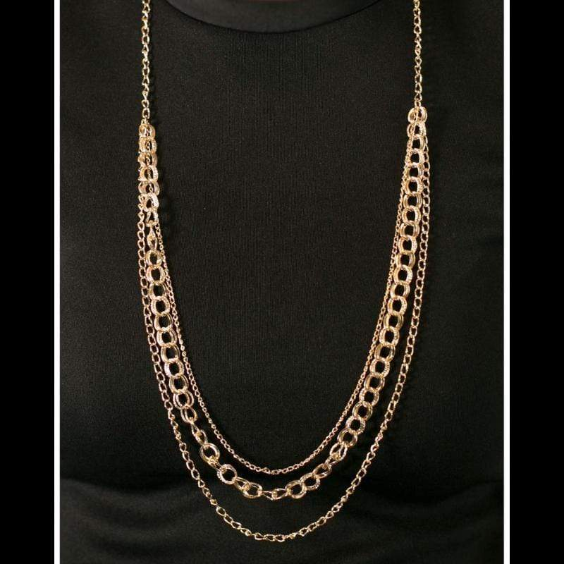 Wicked Wonders VIP Bling Necklace Top of the Chain Gold Necklace Affordable Bling_Bling Fashion Paparazzi