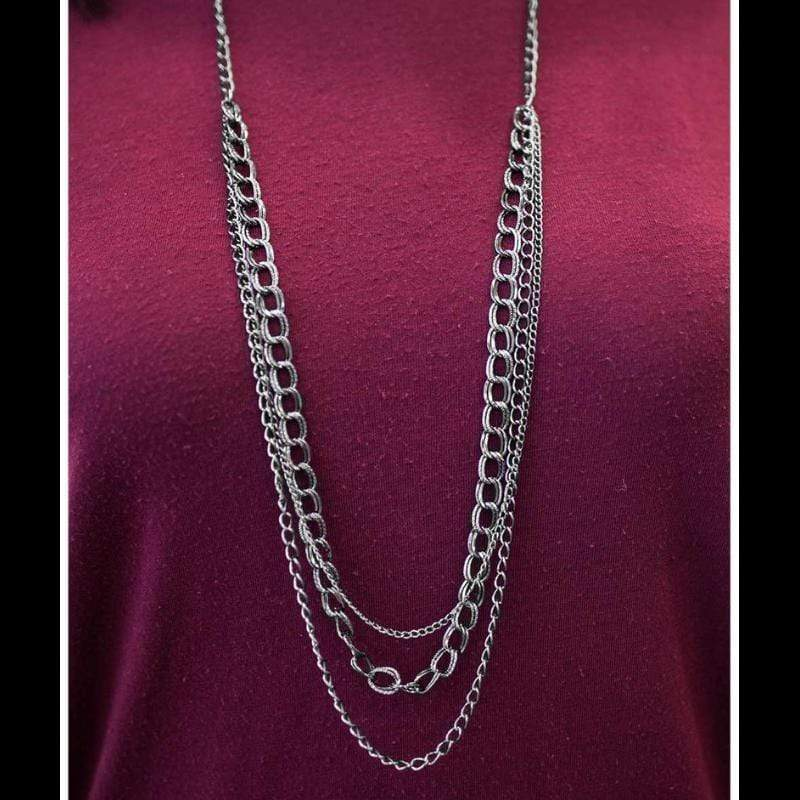 Wicked Wonders VIP Bling Necklace Top of the Chain Gunmetal Black Necklace Affordable Bling_Bling Fashion Paparazzi