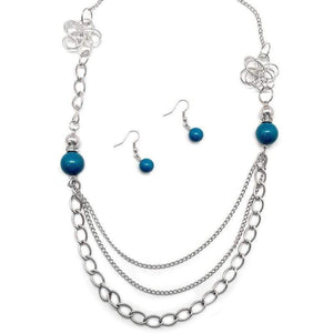 Wicked Wonders VIP Bling Necklace Truly, Madly, Deeply Blue Necklace Affordable Bling_Bling Fashion Paparazzi