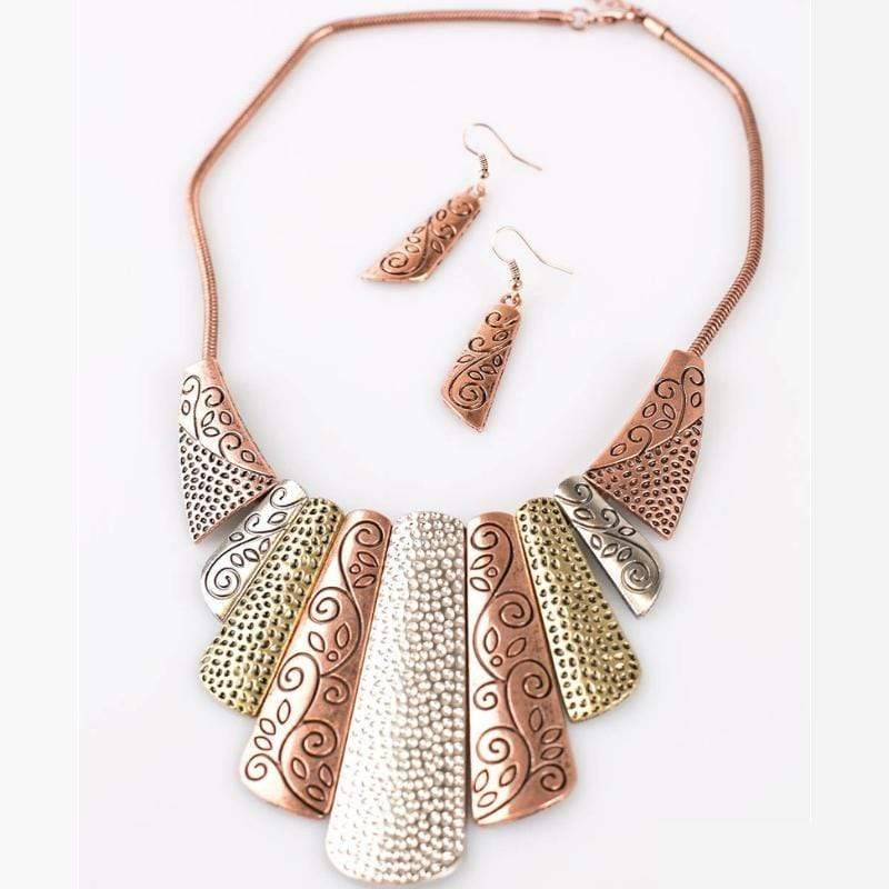 Wicked Wonders VIP Bling Necklace Untamed Multi-Metal Blockbuster Necklace Affordable Bling_Bling Fashion Paparazzi