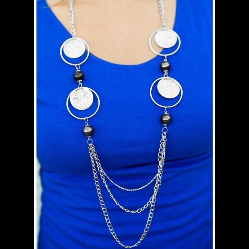 Wicked Wonders VIP Bling Necklace Utter Amazement Black Necklace Affordable Bling_Bling Fashion Paparazzi