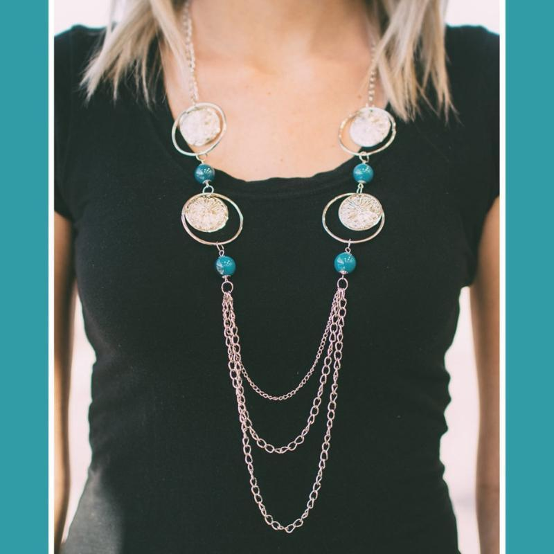 Wicked Wonders VIP Bling Necklace Utter Amazement Blue Necklace Affordable Bling_Bling Fashion Paparazzi