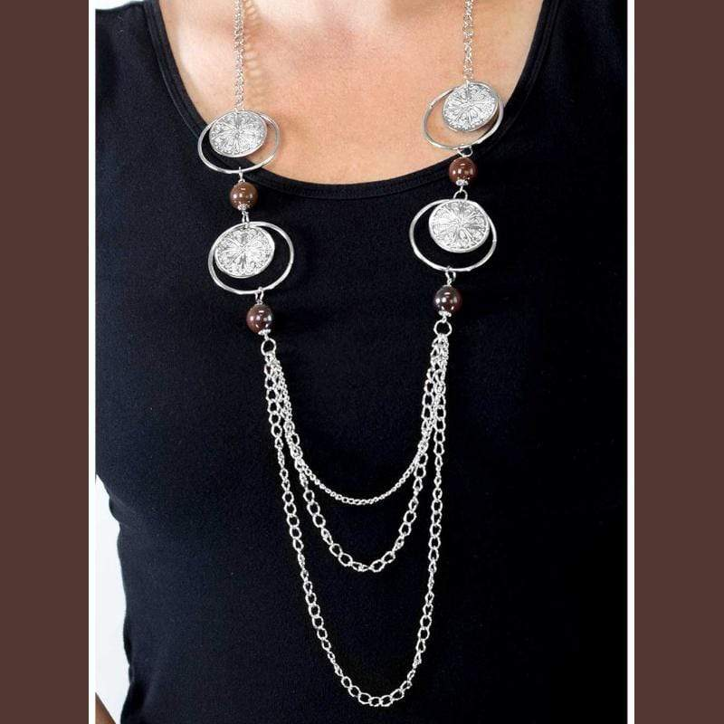Wicked Wonders VIP Bling Necklace Utter Amazement Brown Necklace Affordable Bling_Bling Fashion Paparazzi